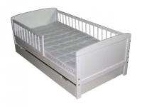 kinderbett juniorbett 140x70 cm weiss. Black Bedroom Furniture Sets. Home Design Ideas