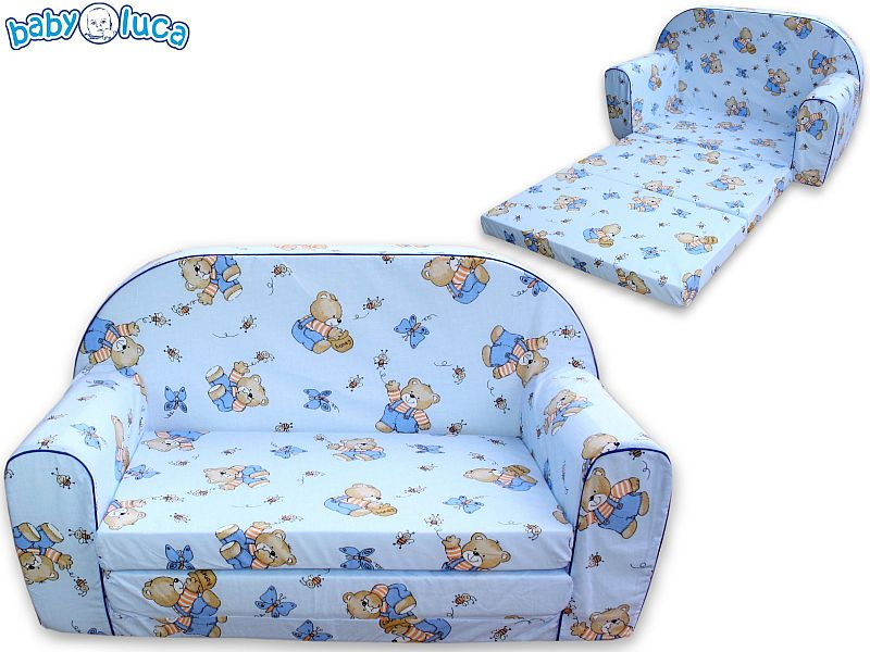 kindersofa sofa mit bettfunktion blau2. Black Bedroom Furniture Sets. Home Design Ideas